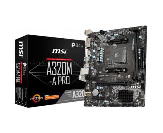 MSI A320M-A Pro AMD A320 Soket AM4 DDR4 3200(OC)MHz mATX Gaming Anakart