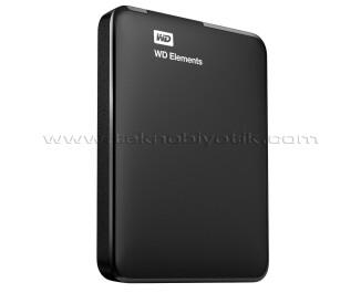 """WD Elements 1 TB 2.5"""" Usb 3.0 Siyah Taşınabilir Disk (WDBUZG0010BBK-EESN)"""