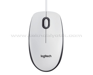 Logitech M100 Kablolu USB (Beyaz) Mouse 910-005004