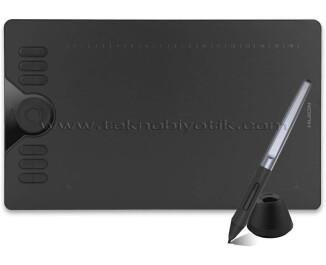 Huion HS610 35cm x 21.1cm, 8192 Kademe Basınç Hassasiyetli, 5080LPI Çözünürlük, 12 Adet Kısayol Tuşu, Pilsiz Kalemli, Android Uyumlu Grafik Tablet (Cep Telefonu OTG Dönüştürücü Hediyeli)