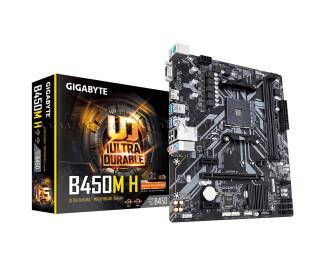 Gigabyte B450M-H Socket AM4, DDR4 3600MHz(OC), Ultra M.2, USB 3.1 Gen1, HDMI, VGA mATX Anakart