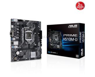 Asus Prime H510M-D LGA1200 DDR4 3200Mhz (OC) Micro ATX Anakart