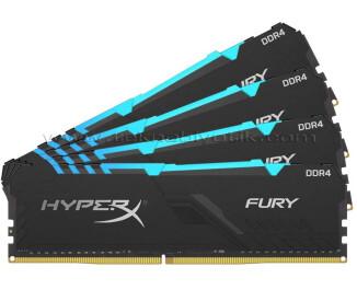 Kingston HyperX Fury RGB DDR4 128GB(4x32GB) 3600MHz HyperX Fury Bellek Ram (HX436C18FB3AK4/128)