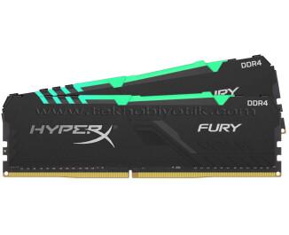 Kingston HyperX Fury RGB DDR4 32GB(2x16GB) 3200MHz HyperX Fury Bellek Ram (HX432C16FB3AK2/32)