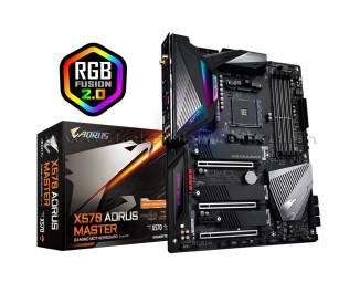 Gigabyte X570 AORUS MASTER AM4 Socket, 4400 MHz (OC) DDR4, M.2 SSD, USB 3.2, RGB LED, ATX Anakart