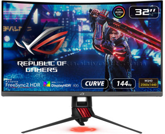 """Asus 31,5"""" XG32VQR 2560x1440 4 Ms HDMI DP Monitör"""