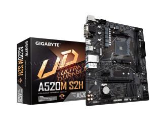 Gigabyte A520M-S2H Socket AM4, DDR4 5100Mhz(O.C.), M.2, USB 3.2, HDMI, DVI, VGA mATX Anakart