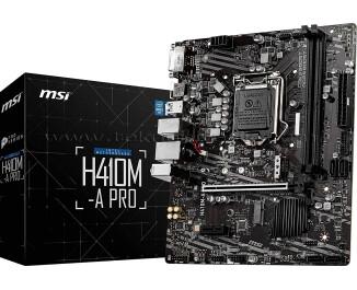 MSI H410M-A PRO Socket 1200, DDR4 2933MHz, USB 3.2 Gen1, 2x m.2, DVI, HDMI mATX Anakart
