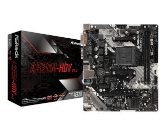 ASRock A320M-HDVR4 Socket AM4, DDR4 3200MHz+(OC), Ultra M.2, USB 3.1 Gen1, HDMI, DVI, VGA mATX Anakart