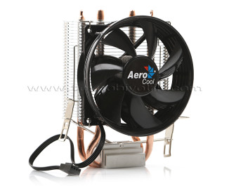 Aerocool Verkho2 9cm Fan, 2x6mm Isı Borusu, 4pin PWM Intel / AMD Uyumlu İşlemci Soğutucusu (AE-CC-VERKHO2)