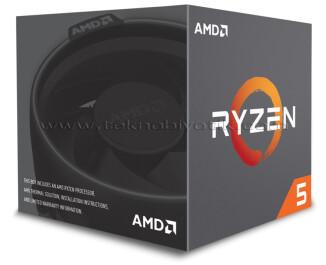 AMD Ryzen ™ 5 1600 AF 3.2GHz (Turbo 3.6GHz) 16MB Cache 12nm Yeni Versiyon AM4 İşlemci - Wraith Stealth Soğutuculu