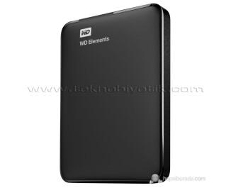 """WD Elements 2TB 2.5"""" USB 3.0 Taşınabilir Disk (Siyah) (WDBU6Y0020BBK-WESN)"""