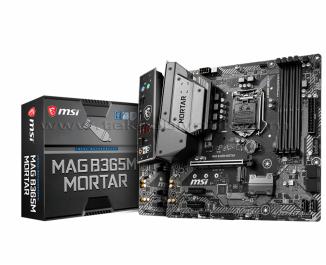MSI MAG B365M MORTAR SOKET 1151 DDR4 2666MHz Ultra M.2, USB 3.1, DVI, VGA, mATX RGB Anakart