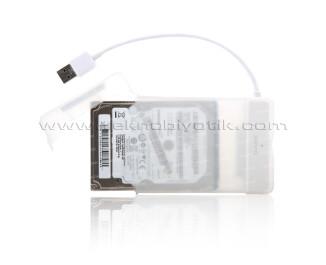 """Dark Storex E24 2.5"""" USB3.0 Disk Kutusu + Çıkarılabilir Başlıklı Şeffaf Saklama Kutusu (DK-AC-DSE24U3)"""