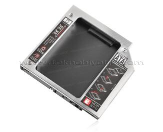 """Dark Storex Notebook Optik Sürücü 2.5"""" HDD / SSD Sata Disk Dönüştürücü - 12.7mm Kalın Diskler İle Uyumlu (DK-AC-DSOSD12)"""