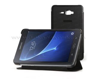 "Dark Samsung Galaxy TAB A 7"" T280 Siyah Deri Kılıf / Book Cover (DK-AC-SMKAST280)"