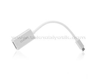 Dark USB 3.1 Type-C' den (4K UHD 30Hz) Display Port Dönüştürücü Adaptör (DK-AC-U31XDP)