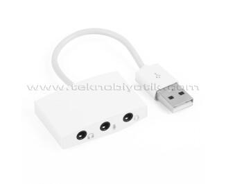 Dark USB2.0 3 in 1 Ses Kartı (Kulaklık / Mikrofon / Kulaklıklı Mikrofon) (DK-AC-USC03)