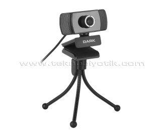 Dark WCAM11 Full HD 1080p, Monitör Üstü Uyumlu, Tripod Ayak Dahil, Ayarlanabilir Açılı Mikrofonlu USB Webcam