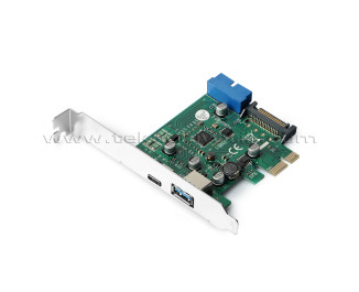 Dark USB 3.1 Type-C + USB 3.0 Type-A + 19pin Anakart USB 3.0 PCI Express x1 Anakart Çoklayıcı Kart (DK-AC-U31P2G1)