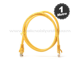 Dark 1m CAT6 CU AWG24/7 UTP Sarı Network Kablosu (DK-CB-NT6U100Y)