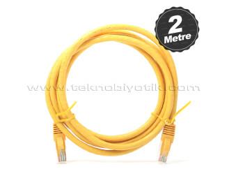 Dark 2m CAT6 CU AWG24/7 UTP Sarı Network Kablosu (DK-CB-NT6U200Y)