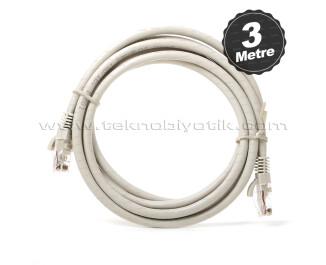 Dark 3m CAT6 CU AWG24/7 UTP Gri Network Kablosu (DK-CB-NT6U300G)