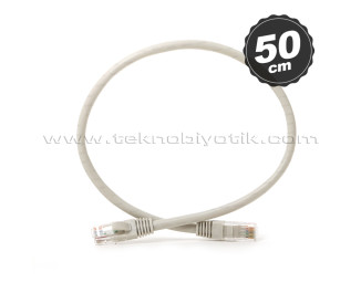 Dark 50cm CAT6 CU AWG24/7 UTP Gri Network Kablosu (DK-CB-NT6U50G)
