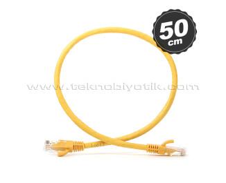 Dark 50cm CAT6 CU AWG24/7 UTP Sarı Network Kablosu (DK-CB-NT6U50Y)