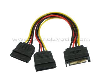 Dark SATA to 2 x SATA Çevirici Çoklayıcı Kablo (DK-CB-P202)