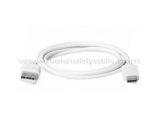 Dark 1m USB Type-C - USB 2.0 Type A Beyaz Şarj ve Data Kablosu (DK-CB-U31L100W)