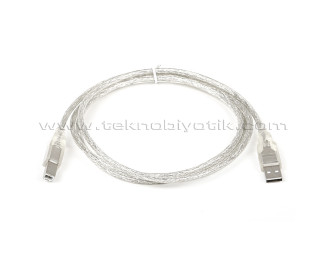 Dark 1.5m Şeffaf USB 2.0 Printer Kablosu (DK-CB-USB2PRNL152)