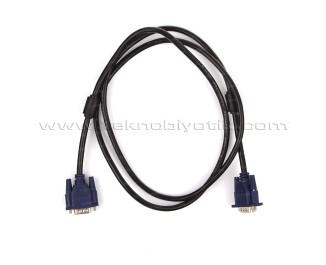 Dark 1.5m VGA Ferrit Core EMI/RFI Filtreli, 6mm Çaplı, VGA Kablo (DK-CB-VGA150)