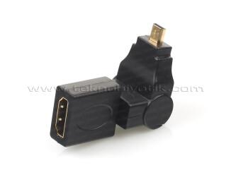 Dark HDMI Dişi - Micro HDMI 270 Derece Açılı (erkek) Dönüştürücü (DK-HD-AHDMIXM270)