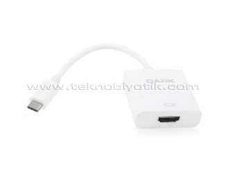 Dark USB 3.1 Type-C' den 4K (30Hz) UHD HDMI Dönüştürücü Adaptör (DK-AC-U31XHD)