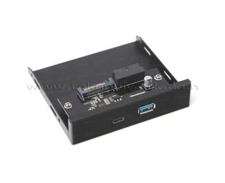 "Dark 19pin USB 3.0 Anakart Bağlantısı - USB 3.1 Type-C + USB 3.0 Dönüştürücü 3.5"" Ön Panel (DK-AC-U31FR)"