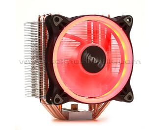 Dark Freezer X124 Intel / Ryzen Uyumlu İşlemci Soğutucu 12cm Kırmızı LED'li, Intel LGA 775/115X/1366/2011/2066, AMD AM2/AM3/AM4/FM1/FM2, 4pin PWM Fanlı, 5x Isı Borusu, Direkt Kontak (DKCCX124R)