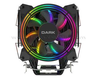 Dark Freezer X128, 2x12cm FRGB LED'li, Intel & AMD Uyumlu, 4pin PWM Fanlı, 4x Isı Borusu, Direkt Kontak İşlemci Soğutucu (DKCCX128)