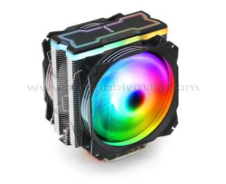 Dark Freezer X129 Intel & AMD Uyumlu, 2xAdreslenebilir RGB LED Fanlı Kule Tipi İşlemci Soğutucu ( DKCCX129 )