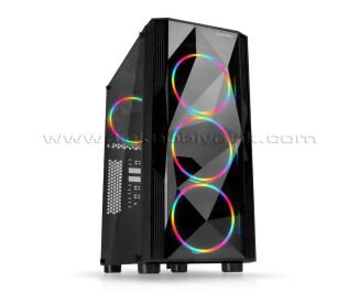 Dark Diamond PRO 500W 80+ 4x12cm FRGB Full Akrilik Ön ve Yan Panel, USB 3.0 Bilgisayar Kasası (DKCHDIAMONDPRO580BR)