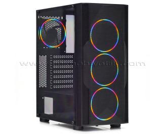 Dark Diamond PRO Mesh 600W 4x12cm FRGB Fan, Full Akrilik Yan Panel, USB 3.0 Bilgisayar Kasası (DKCHDIAMONDPROMS600)
