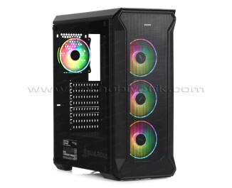 Dark Guardian PRO 600W 80+ Bronze 4x12cm Adreslenebilir RGB LED Fanlı, Full Cam Yan ve Mesh Ön Panel, USB 3.0 Bilgisayar Kasası (DKCHGRPRO680BR)