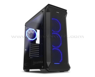 Dark Guardian 4x12cm RGB LED Fanlı, Full Cam Yan ve Mesh Ön Panel, USB 3.0 Bilgisayar Kasası (DKCHGUARDIAN)