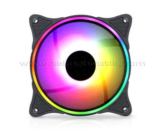 Dark Twister 12cm Adreslenebilir ARGB LED'li Kasa Fanı (Dark Guardian PRO Kasa Yedek Fanı)