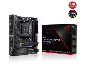 ASUS ROG CROSSHAIR VIII X570 AMD Impact 4800Mhz AM4 DDR4  M2 USB3.2  mITX Anakart