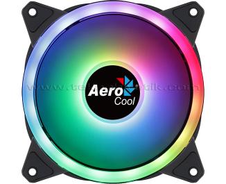 Aerocool Duo12 12cm ARGB Adreslenebilir RGB LED Fanlı, Otomatik Hız Ayarlı, PWM, Kasa Fanı (AE-CFDUO12)