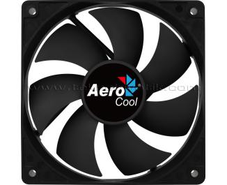 Aerocool Force Series 12cm Otomatik Hız Ayarlı, PWM, Siyah Sessiz Kasa Fanı (4 Pin Bağlantılı) (AE-CFFR120PBK)