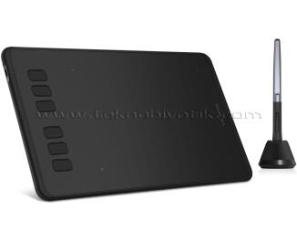 Huion Inspiroy H640P 26cm x 14.7cm, 8192 Kademe Basınç Hassasiyetli, 5080LPI Çözünürlük, 6 Adet Kısayol Tuşu, Pilsiz Kalemli, Android Uyumlu Grafik Tablet (Cep Telefonu OTG Dönüştürücü Hediyeli)