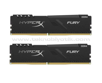 Kingston 64GB(2x32GB) DDR4 3600MHz HyperX Fury Bellek Ram (HX436C18FB3K2/64)