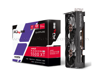 Sapphire Radeon RX5500 XT PULSE OC 4GB 128Bit GDDR6 Ekran Kartı (11295-03-20G)